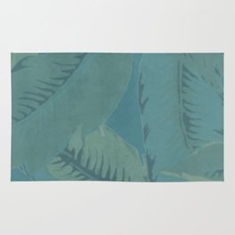 Faded Palms Pattern Rug