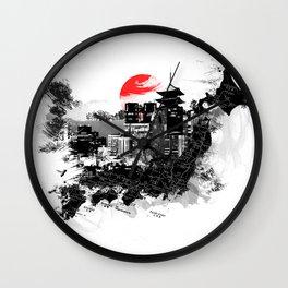Abstract Tokyo-Shinjuku/Kyoto - Japan Wall Clock