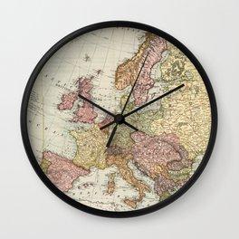 Atlas Map of Europe (1912) Wall Clock