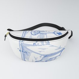 Telephone Wall Set Vintage Patent Hand Drawing Fanny Pack