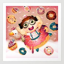 Donuts and Swan Lake Art Print