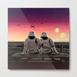 Stormtrooper Sunset Metal Print
