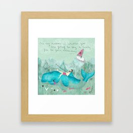 a hearty yes Framed Art Print