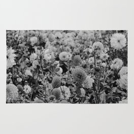 The Garden (Black and White) Rug
