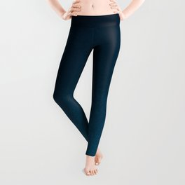 Hand painted navy blue green watercolor ombre brushstrokes Leggings