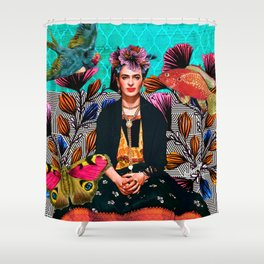 Frida´s secret smile Shower Curtain