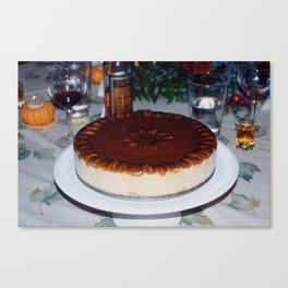 Frozen Pumpkin Mousse Torte  Canvas Print