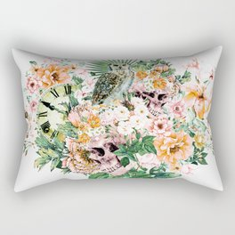 Interpretation of a dream - Owl with Skulls Rectangular Pillow
