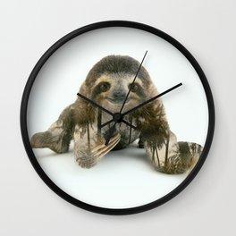Arctic Sloth Wall Clock