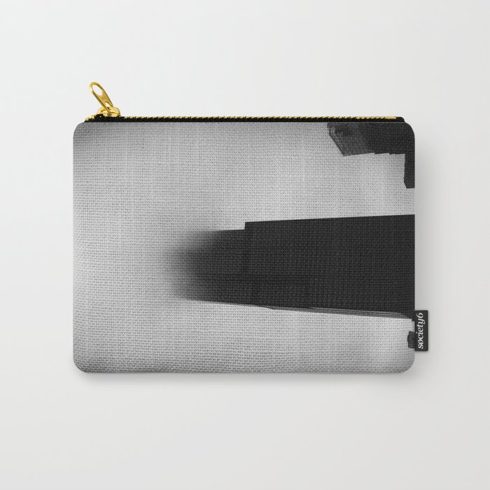Sears Tower in Fog Chicago Black and White Photo Carry-All Pouch