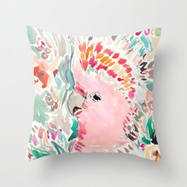 RADANA the Cockatoo Throw Pillow