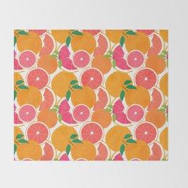 Grapefruit Harvest Throw Blanket