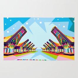 Toraja Land In Pop Art Rug