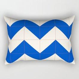 Herringbone Sea Rectangular Pillow