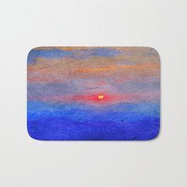 Paper-textured Sunset Bath Mat