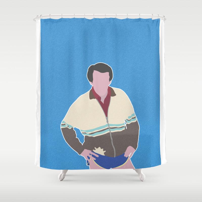 Alan Partridge Shower Curtain by Barneyrobble CTN8631747