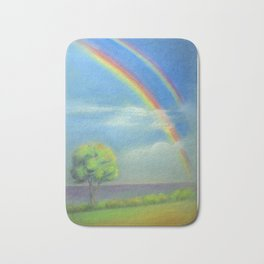 Between Heaven and Earth - painted Bath Mat