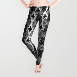 Uh Oh: Black and White-Inverted Leggings