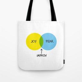The Venn of Improv (Yellow/Blue) Tote Bag