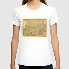 Street Map of Brooklyn, New York (1874) T-shirt