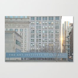 Sunset at the Art Institute  Canvas Print