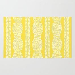Cable Row Yellow Rug