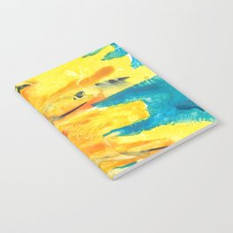Free Flowing Sunflower Notebook