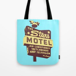 Seeing Stars ... Motel ... (Blue Background) Tote Bag