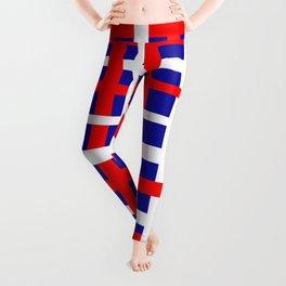 Patriotic Interlocking Stripes Leggings