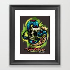 Snake Bite Framed Art Print