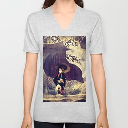 Out of the Cave, Into the Storm, the Hero Prepares for the Next Battle Unisex V-Neck