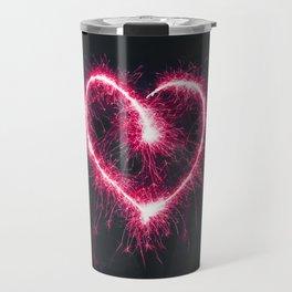 Firework Heart (Color) Travel Mug