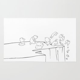 Lemming Marathon Rug