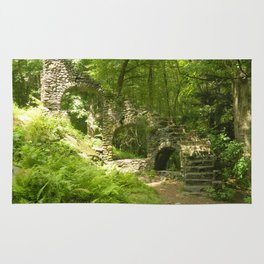 Castle Ruins in the Forest Rug