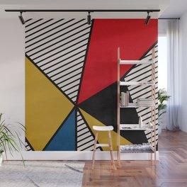 Primary Colors and Stripes Wall Mural
