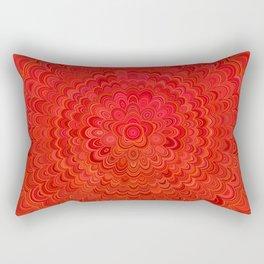 Fire Flower Mandala Rectangular Pillow