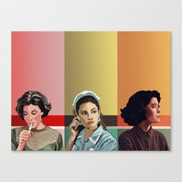 The Girls of Twin Peaks Canvas Print
