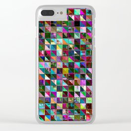 glitch color pattern Clear iPhone Case