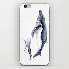 Humpback whale with calf iPhone Skin