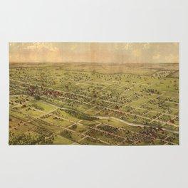 Vintage Pictorial Map of Lansing Michigan (1866) Rug