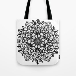 Rose Mandala  Tote Bag