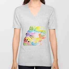 My Rainbow Totoro Unisex V-Neck