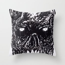 Black Zombie Rotten Throw Pillow