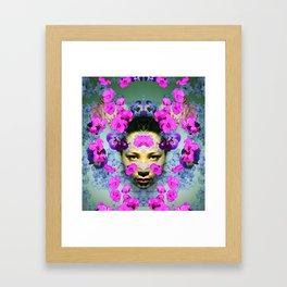 Floral Portrait 3 Framed Art Print