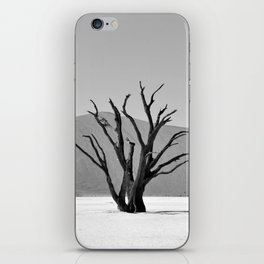 Black and White Dead Vlei iPhone Skin