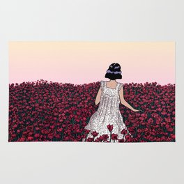 Field of Poppies | Colour Version Rug