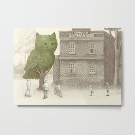 The Night Gardener - The Owl Tree Metal Print