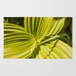 Green Leaf Photography Print Rug