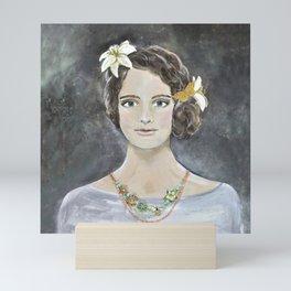 Lillies in Her Hair Mini Art Print