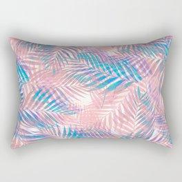 Palm Leaves - Iridescent Pastel Rectangular Pillow